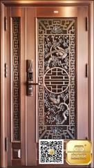 别墅铜门|单开铜门|精雕铜门