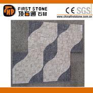 黑色石灰石和黄色洞石马赛克FSMT-258