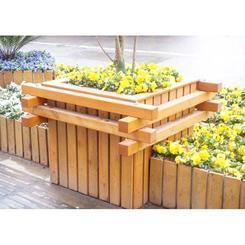 实木地板塑木花箱木质别墅