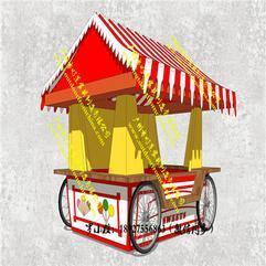 游乐园售货车,景区售卖车,防腐木售货亭