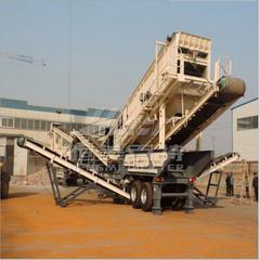 湖北石料生产线 移动建筑垃圾再生处理破碎站 鄂破车体