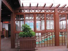 青岛木廊架,防腐木葡萄架