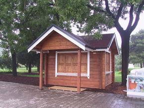 青岛木屋、木亭、售卖亭、木制别墅