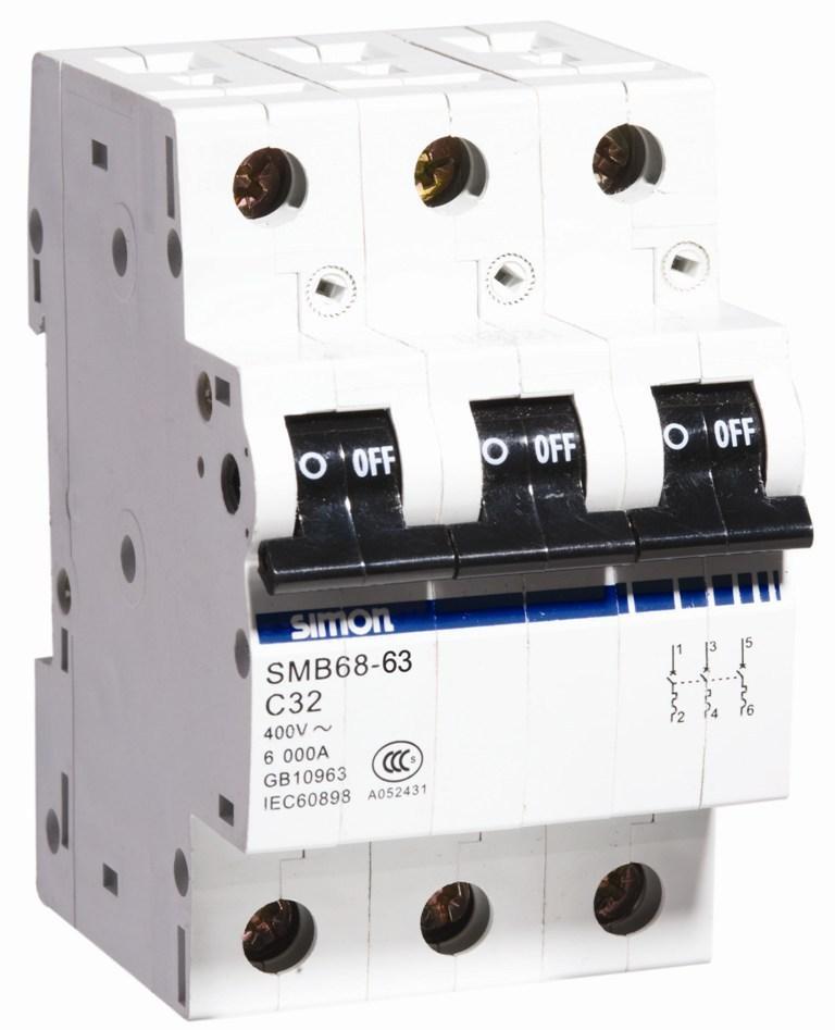西蒙SMB68系列3P微型断路器