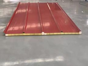 1000型A级新型岩棉夹芯聚氨酯侧封屋面保温板