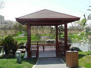 厂家批发优质生态木 木塑地板 公园花架 公园凉亭
