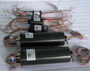 微型气动组合滑环 自动化转台用 8毫米气管 24路信号