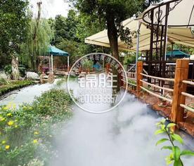 成都华阳酒店喷雾造景园林喷雾景观