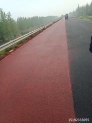 西安铜山彩色路面喷涂剂彩色路面的画笔