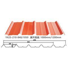 YX25-210-1050彩钢瓦_1050压型板_1050墙面屋面瓦厂家价格批发