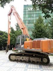挖掘机三段式拆楼臂-日立360