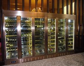 红古铜恒温不锈钢酒柜