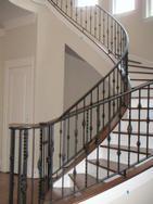铁艺楼梯、楼梯护栏、楼梯栏杆、楼梯扶手
