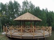 北京旅游景点屋顶金属茅草