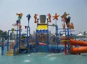 河北石家庄水上乐园设备水蘑菇、儿童池嬉水池游乐设备