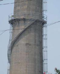烟囱爬梯安装,烟囱爬梯平台安装