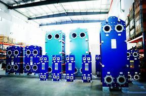 供暖面积2500平米换热器二次水温40/60℃采暖用板式换热器市场价格DN32