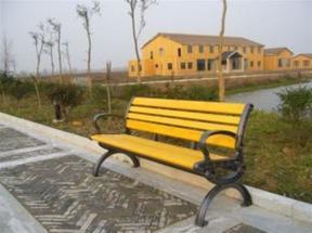 北京木塑户外公园椅生产厂家现货供应园林座椅