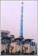 电厂烟囱刷航标色环,电厂砼烟囱外壁防腐公司!