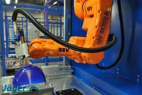 德国jager电主轴搭配机器人集成雕刻铣加工应用