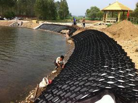 生态塑料巢室护坡绿化