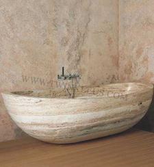 天然大理石雕刻浴缸