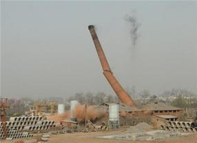专业拆除烟囱