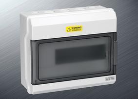 防水配电箱12回路塑料开关盒带透明盖高档配电强电箱空气开关盒