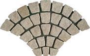 黄色花岗岩扇形马赛克地砖HZY-129-T