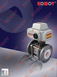 KOWOV陶瓷球阀-电动O/V型陶瓷球阀
