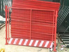 红白喷涂基坑护栏网、挡脚板基坑临边护栏网