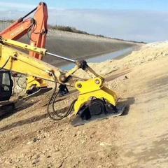 挖机夯土机挖掘机平板振动夯