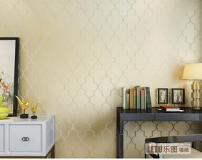 乐图LETU无纺布墙纸壁纸 YG7203米黄色