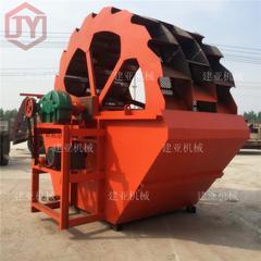 热销型JY轮式洗砂机 洗沙机生产线 砂石河道泥洗砂机厂家