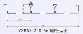 闭口65-220-660型镀锌楼承板承重板钢承板