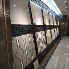 新款瓷�u展示架 石材展具展柜 陶瓷�_孔展板架子