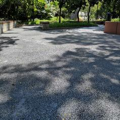深圳社区公园彩色透水地面施工 小区透水混凝土跑道