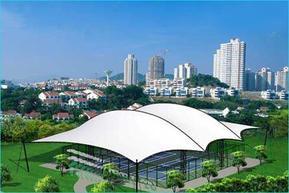 膜结构网球场高尔夫发球台