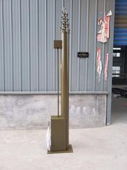 10米车载便携式通信监控照明电动升降杆避雷针