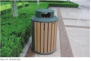 塑胶木垃圾箱/塑木垃圾桶SQ6-010
