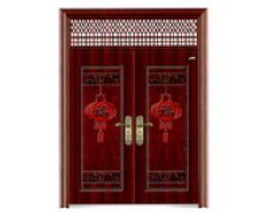 仿木纹铁门