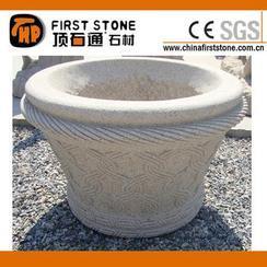 锈色花岗岩花盆GGV306