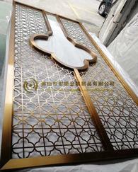 欧式铝雕屏风-轻奢铝雕屏风隔断厂家