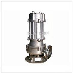 WQ不锈钢无堵塞潜水排污泵 加配自耦装置 固定式潜水泵