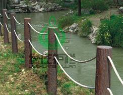 仿木桩,树桩,仿木护栏,河道栏杆