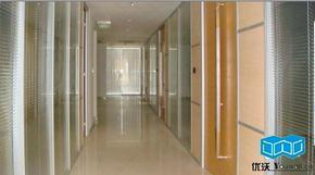 11双层玻璃隔断内置百叶/铝合金成品隔断/办公室隔断**玻璃隔断墙
