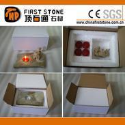 青蛙雕刻板岩烛台GSS001C