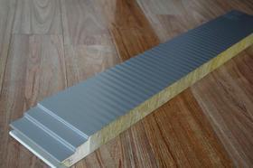 聚氨酯封边岩棉夹芯板,聚氨酯封边四企口夹芯板