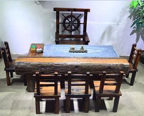 船木家具 船木龙骨茶台 龙骨沙发 订做 生产