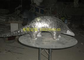 供应不锈钢穿山甲雕塑不锈钢抽象雕塑摆件装饰